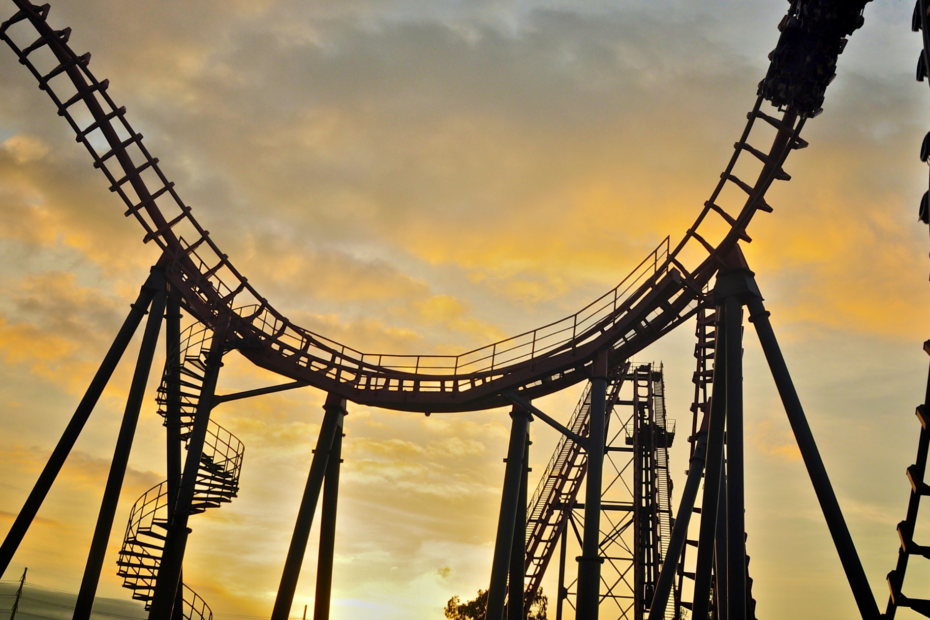 Rollercoaster at dusk